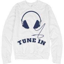 Tune In Headphones Sweatshirt