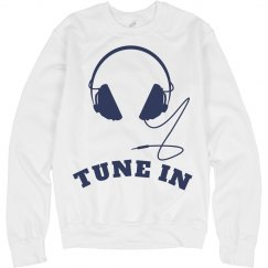 Tune In Headphones Sweatshirt