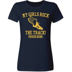 Girls Track and Field Tee