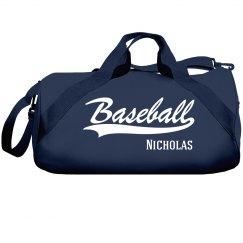 Nicholas's baseball bag