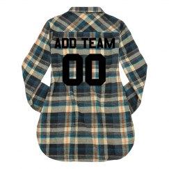 Custom Team Name/Colors Flannel