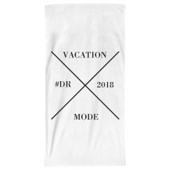 BLACK/WHITE BEACH TOWEL