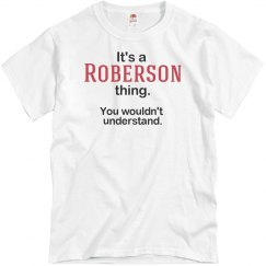 Its a Roberson thing