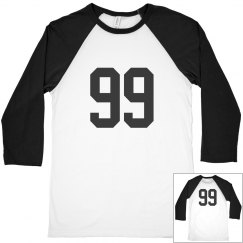 Sports number 99 shirt