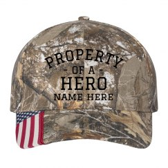 Property of a Hero Custom Camo Hat