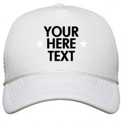 Film and Foil Solid Color Snapback Trucker Hat