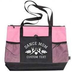 Custom Dance Mom Zippered Tote Bag