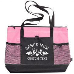 Custom Dance Mom Zippered Tote Bag