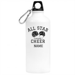Custom All Star Cheer Bottle