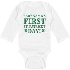 Long Sleeve Onesie First St. Pats