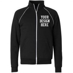 Custom Unisex Canvas Full Zip Fleece Jacket