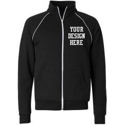 Custom Unisex Canvas Full Zip Fleece Jacket