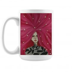 Red hair girl mug 15 oz.