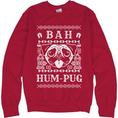 Red Christmas Bah Hum-Pug