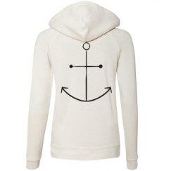 Woman's Ivory Anchor Sweatshirt