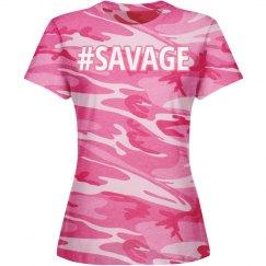 Pink Camo Savage tee
