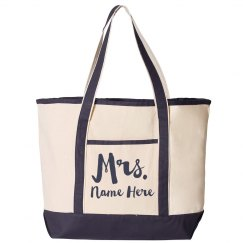 Custom Mrs. Last Name Trendy Colorblock