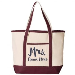 Custom Mrs. Last Name Trendy Colorblock