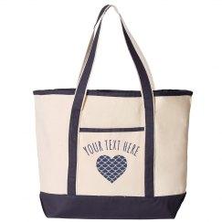 Mermaid Heart Custom Beach Bag