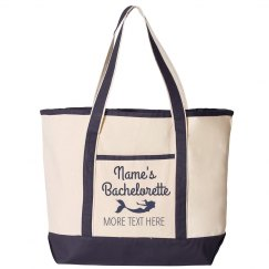Custom Text Bachelorette Beach Bag
