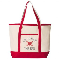 Add Custom Text Trendy Patterned Bag