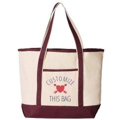 Add Custom Text Trendy Patterned Bag