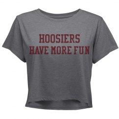 Hoosiers Have More Fun Crop Top