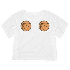 Basketballs Boxy Crop Top