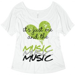 Me & the Music Flowy Tank