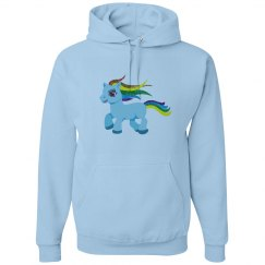 blue rainbow pony