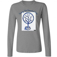 Front blue acorn tree long sleeve no years