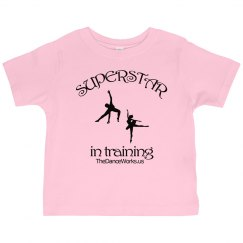 Superstar in Training toddler ruffle jersey tee