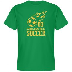 Made-To-Order School Name Number Soccer T-Shirt