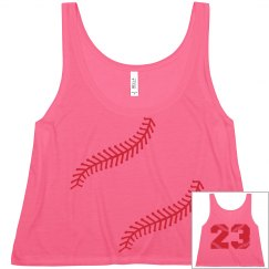 Cute and Trendy Baseball Girlfriend Crop Top Shirt