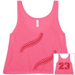 Cute and Trendy Baseball Girlfriend Crop Top Shirt