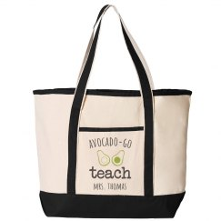Custom Avocado-Go Teach Tote