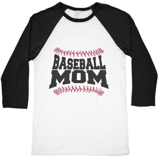 55f765cae Proud Baseball Mom Tee Unisex 3 4 Sleeve Raglan T-Shirt