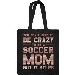 Crazy Metallic Soccer Mom Bag