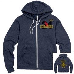 GOBABIES Unisex Canvas Fleece Full Zip Midweight Hoodie