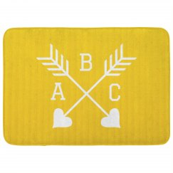 Arrow Custom Initials Bath Mat