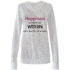 Happiness & Wine long slv