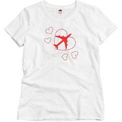 Love flying Womens shirt