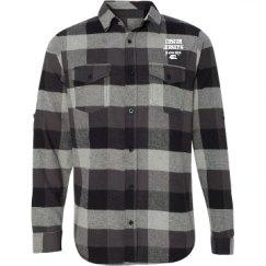 Unisex Long Sleeve Plaid Flannel Shirt