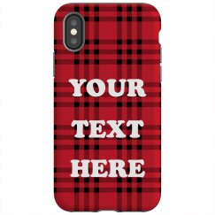 Custom Text Plaid Pattern