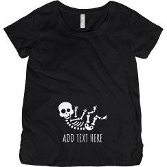 Custom Text Baby Bump Skeleton
