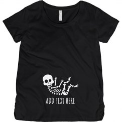Custom Text Baby Bump Skeleton