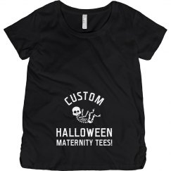 Custom Halloween Maternity Baby Skeleton