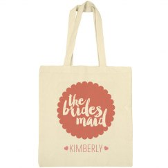Custom Bridesmaid Heart Tote
