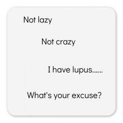 Not lazy, not crazy