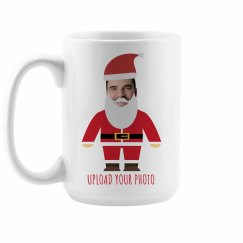 Funny Photo Upload Santa Mug